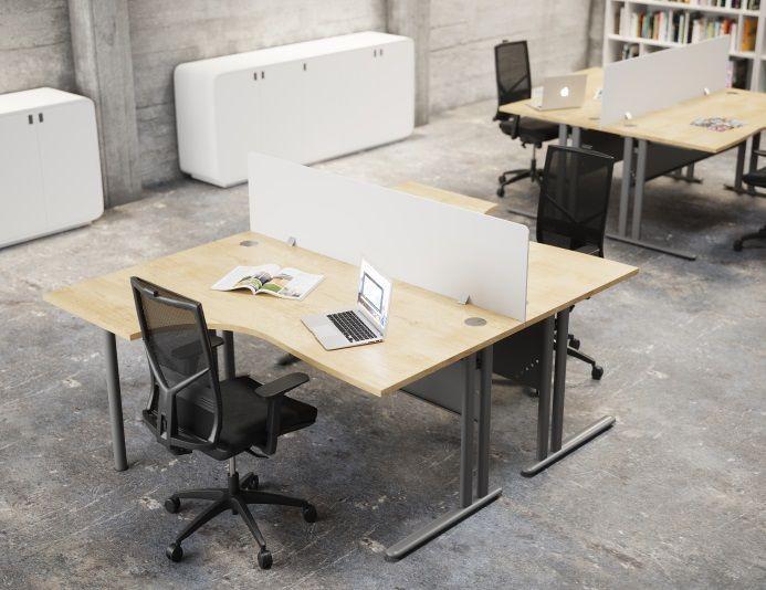 Bureau compact design ESSENTIEL - Hêtre/Anthracite