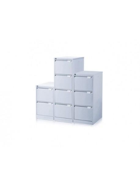 Classeur métallique 3 tiroirs EOL Gris aluminium