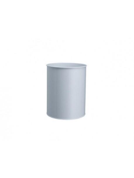 Corbeille à papier en métal FULL - Gris aluminium