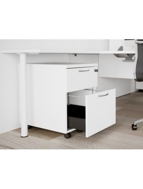 Caisson mobile dossiers suspendus COMFORT - Blanc
