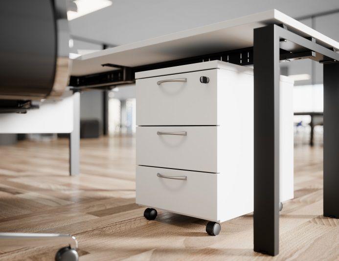 Caisson mobile 3 tiroirs blanc COMFORT