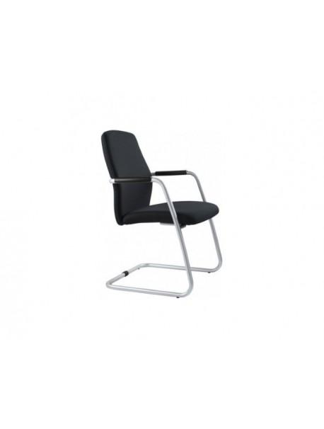 Chaise de réunion tissu noir FEVER