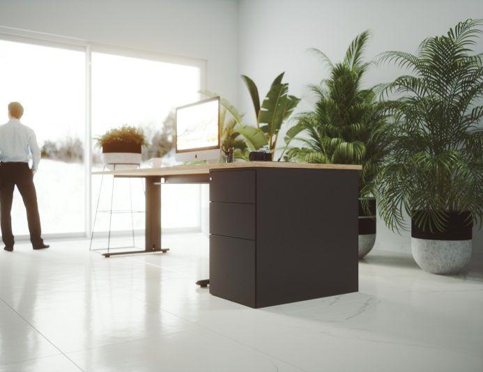 Caisson hauteur bureau 3 tiroirs PAISIBLE