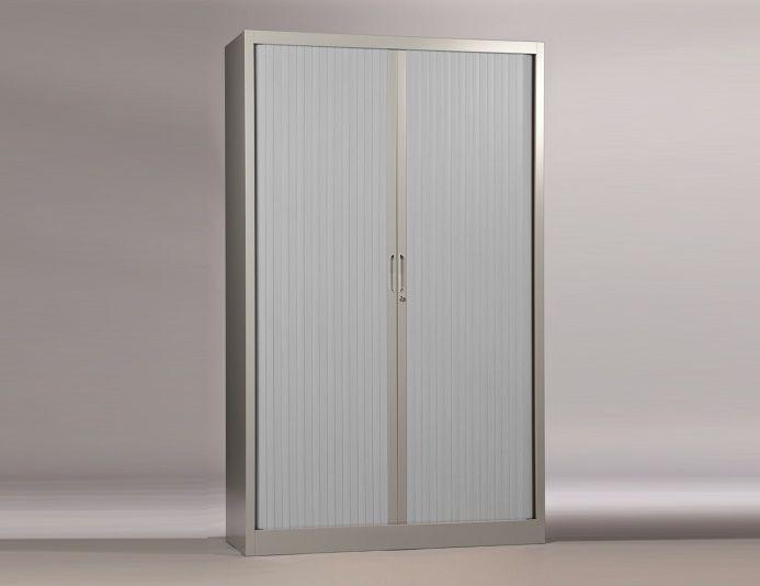 Armoire haute à rideaux CLASSIF H.198 cm - Aluminium