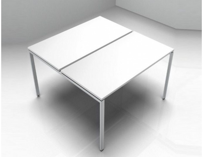 Bureau bench 2 personnes IPOP - blanc