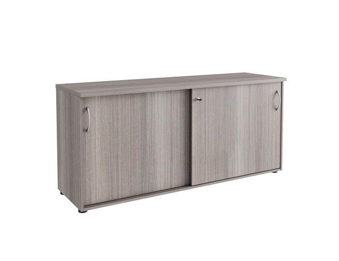 Armoire hauteur bureau portes coulissantes QUIETUDE H.72 cm - Chêne fil