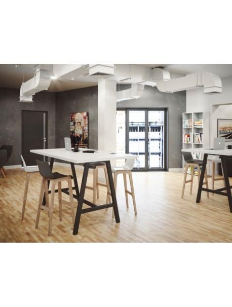 Table haute COHESION - Blanc/Noir