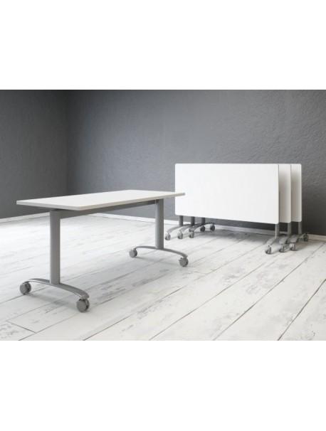 Table rabattable SOLUTION sur roulettes - Blanc