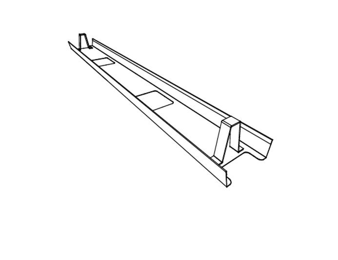 Goulotte horizontale pour table de réunion ASTRO