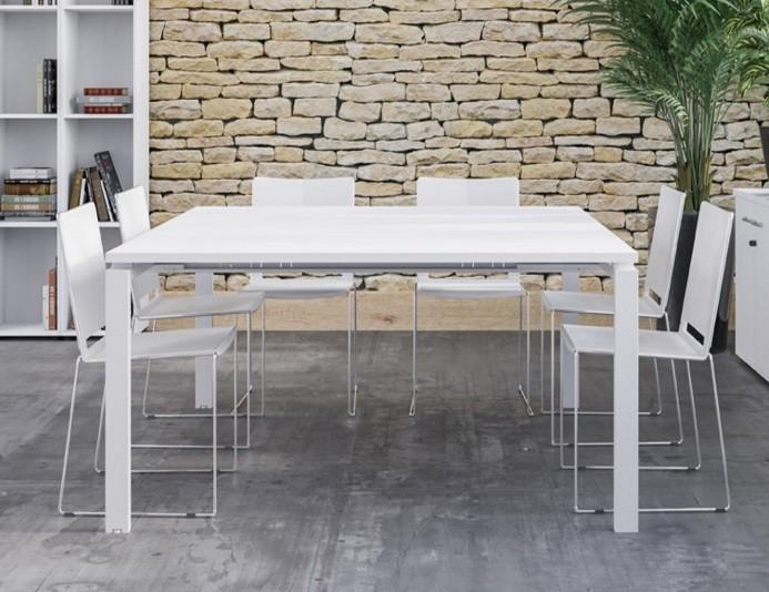 Table de réunion ASTRO 8 personnes - Blanc