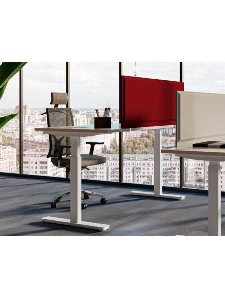 Bureau assis/debout électrique ENVOL - Chêne Nebraska/Blanc
