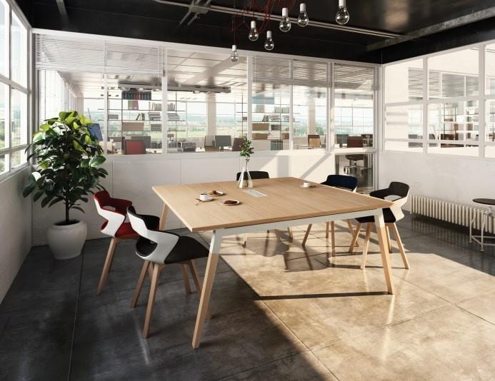 Table de réunion carrée DIALOGUE - Chêne Fil