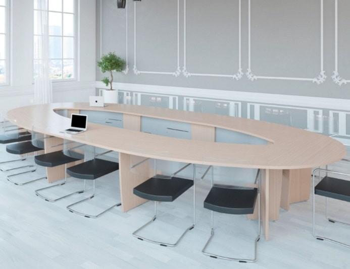 Table de réunion SUCCES oblongue - Chêne Fil