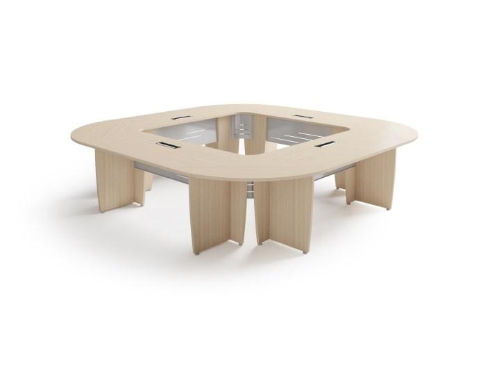 Table de réunion carrée SUCCES - Chêne Fil