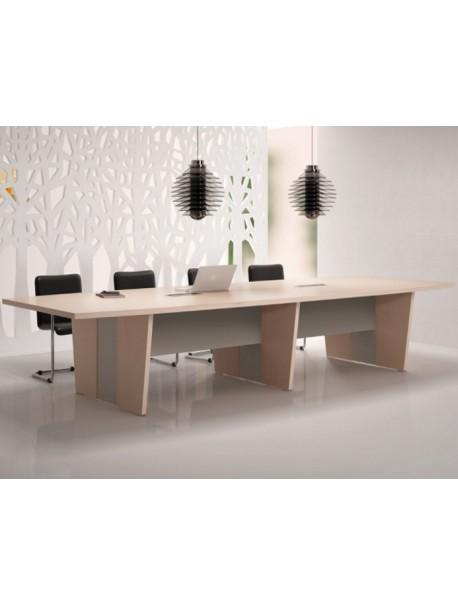 Table de réunion SELECT - Chêne Fil/Argile