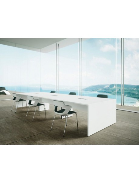 Table de réunion SPACIA - Blanc