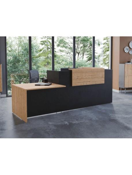 Banque d'accueil FIFTY-FULL avec PMR Noir/Timber