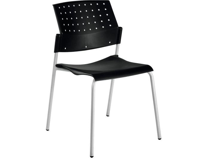 Chaise en polypropylène PENNY - Noir