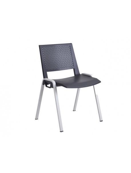 Chaise en polypropylène MARINA - Noir