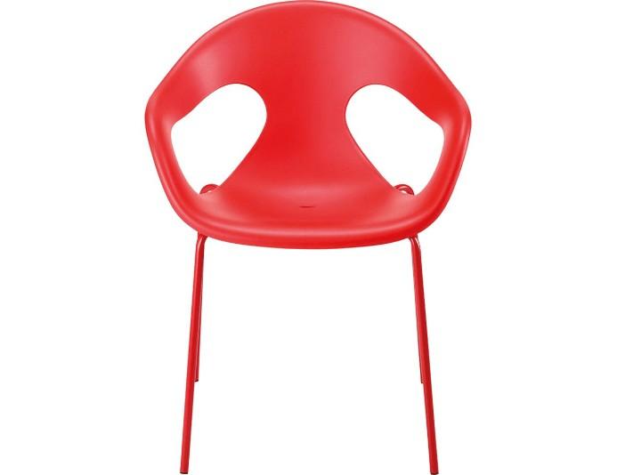 Chaise en polypropylène SONNY - Rouge