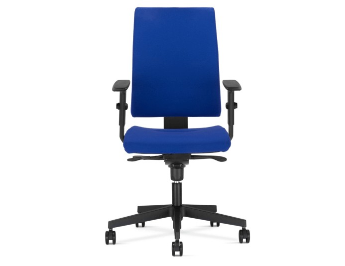 Fauteuil de bureau INTRATA dossier tapissé - Bleu