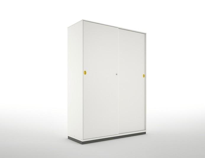 Armoire haute portes coulissantes PRIMO - Blanc