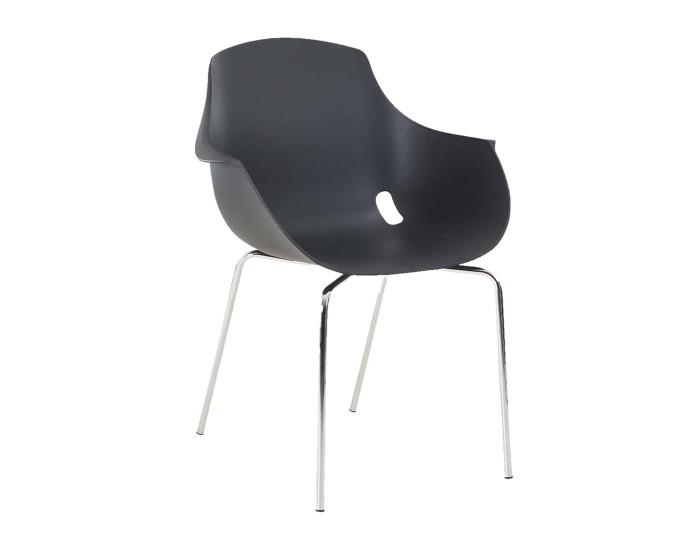 Chaise polypropylène empilable MAHE - Noir