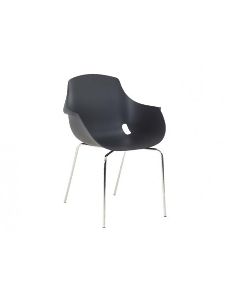 Chaise polypropylène empilable ZAHE - Noir