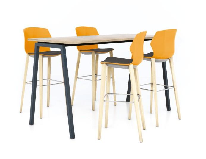 Table haute CINTETIC piétement métallique