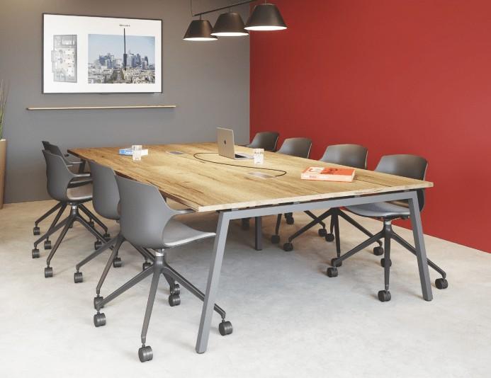 Table de réunion CINETIC - Chêne Brut