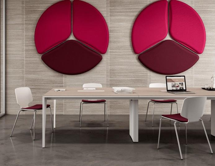 Chaises bois CODE assise tapissée - 4 pieds métal
