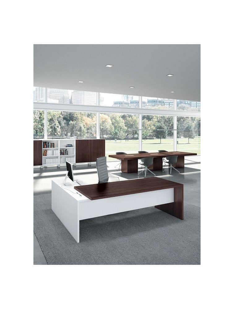 bureau de direction avec retour gauche ou droit quadra delex mobilier. Black Bedroom Furniture Sets. Home Design Ideas