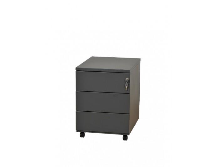 Caisson mobile métal 3 tiroirs Anthracite 7016