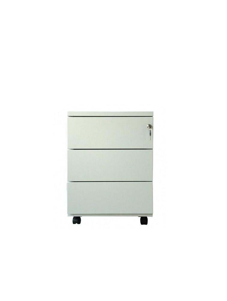 caisson mobile m tal 3 tiroirs avec serrure delex mobilier. Black Bedroom Furniture Sets. Home Design Ideas