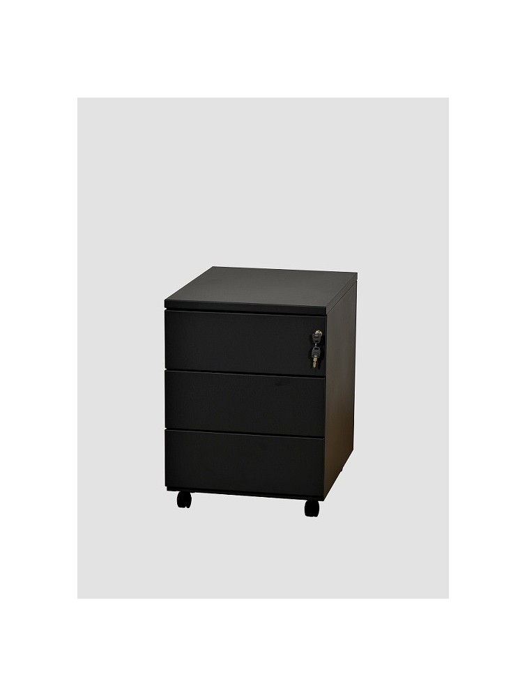 caisson mobile m tal 3 tiroirs avec serrure delex mobilier. Black Bedroom Furniture Sets. Home Design Ideas