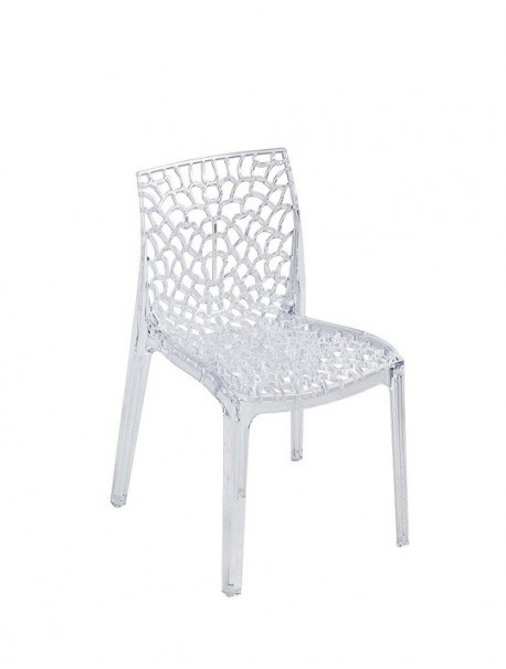 Chaise transparente empilable CHRIS
