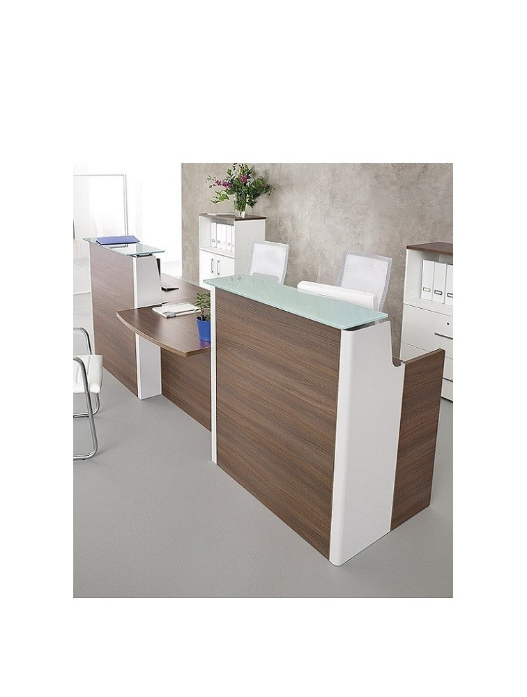 delex mobilier bureau d 39 accueil pmr adelis l 296 x p 95 cm. Black Bedroom Furniture Sets. Home Design Ideas