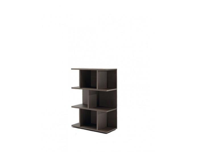 Bibliothèque basse design LARUS H 126 cm Chêne foncé