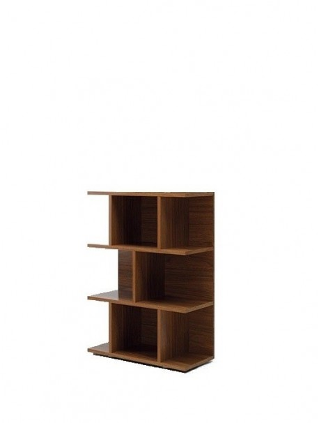 delex mobilier biblioth que basse design larus h 126 cm. Black Bedroom Furniture Sets. Home Design Ideas