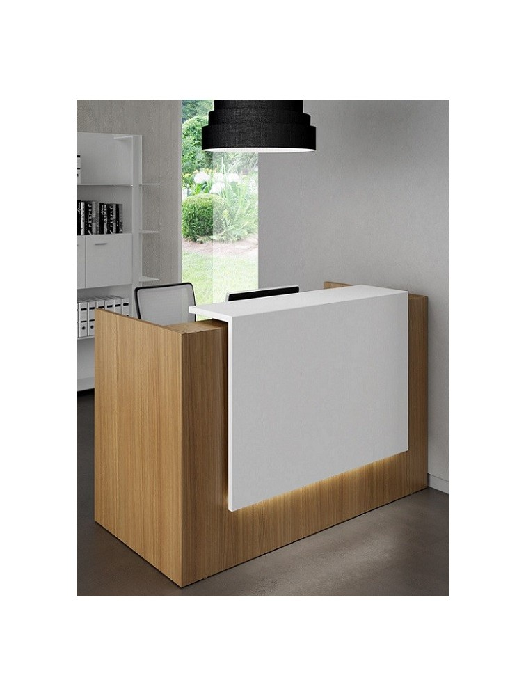 petit bureau d 39 accueil compact moon pas cher delex mobilier. Black Bedroom Furniture Sets. Home Design Ideas