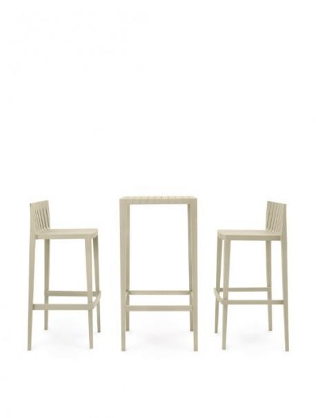Set de 2 tabourets + 1 table haute SPRITZ