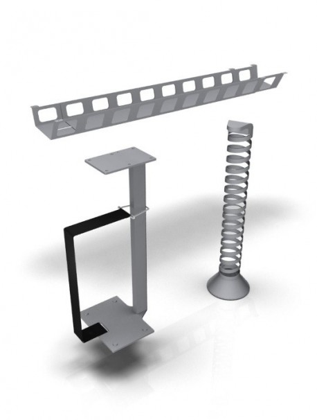 Système de câblage pour bureau réglable E-MODEL aluminium